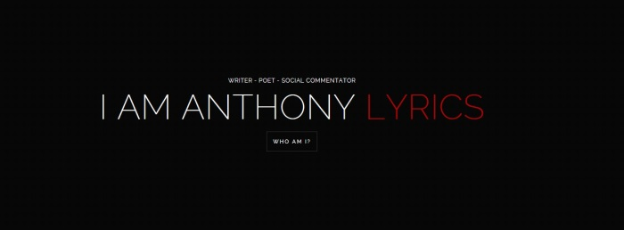 AnthonyLyrics Site