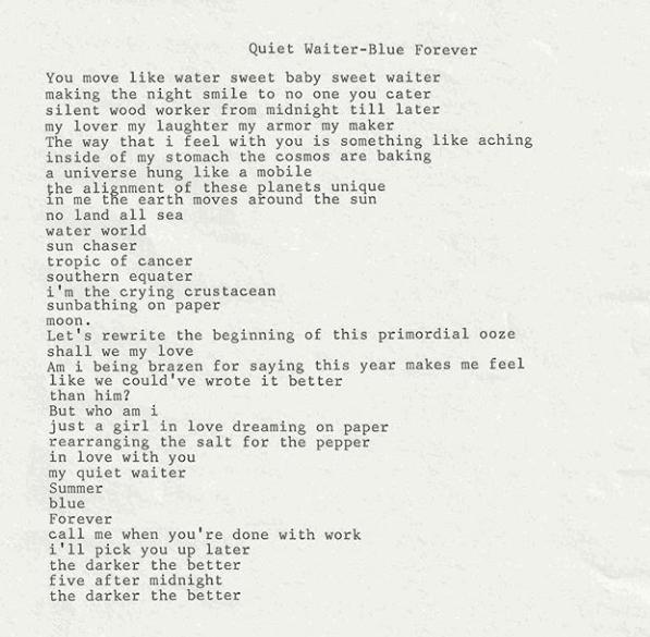 The Poet's List - Poet - Poetry News Spoken word Video - Lana Del Rey