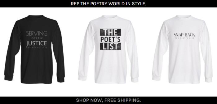 The Poet's List - Poet - Poetry News Spokenword Video - Shop - Merchandise - Merch